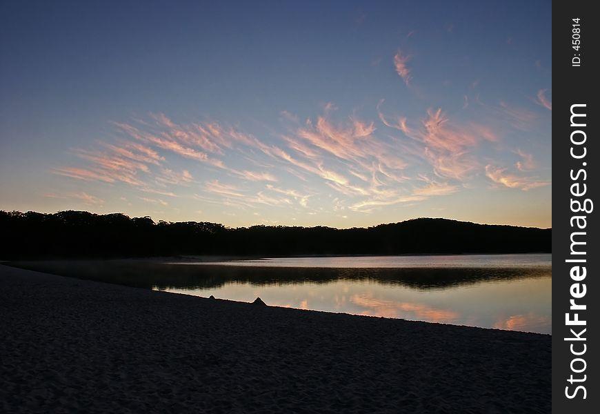 Sunrise lake mckenzie australia