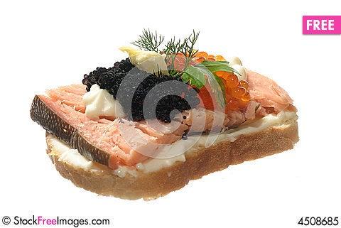 Free Sandwich With Caviar Royalty Free Stock Photo - 4508685