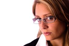 Beautiful Woman With Glasses Stock Photography