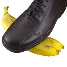 Free Isolated Shoe On Banana Peel Stock Images - 4500194