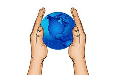 Free Hands And World Globe 6 Stock Photos - 4500353
