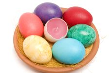 Free Easter Eggs. Royalty Free Stock Image - 4501006