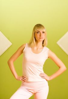 Woman Ready For Fitness Royalty Free Stock Photography