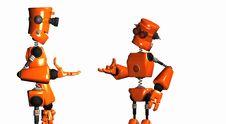 Orange Robots Royalty Free Stock Images