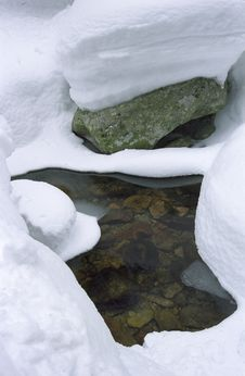 Free Snowy Rocks Stock Photography - 4504082