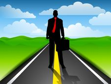 Free Businessman Highway Blue Sky Stock Photography - 4504392