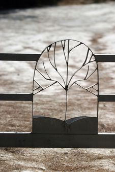 Metal Fence Decoration Stock Photography