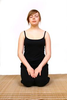 Woman Yoga- Exercises Stock Images