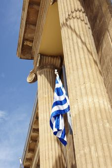Free Greek Flag Royalty Free Stock Image - 4505476