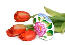 Free Tulips And Easter Egg Stock Images - 4505704