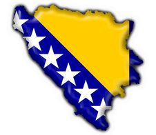 Free Bosnia Button Flag Map Shape Royalty Free Stock Image - 4507136