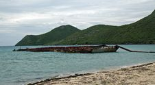 Free Abandoned Barge In The Caribbean Royalty Free Stock Image - 4507146