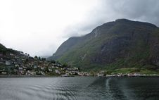 Free View Of Small Village On Norwegian Fjord Royalty Free Stock Images - 4507189