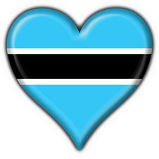 Free Botswana Button Flag Heart Shape Royalty Free Stock Photo - 4507205