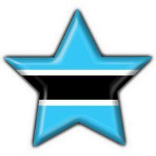 Botswana Button Flag Star Shape Royalty Free Stock Image