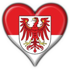 Brandenburg Button Flag Heart Shape Royalty Free Stock Image