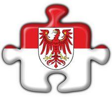 Brandenburg Button Flag Puzzle Shape Royalty Free Stock Photos