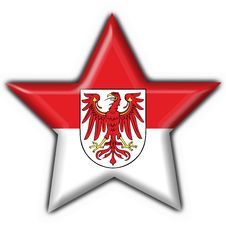 Brandenburg Button Flag Star Shape Royalty Free Stock Images