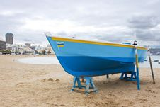 Free Old Fish-boat On Sandy Beach Stock Photo - 4508170