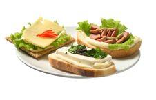 Free Three Sandwich Royalty Free Stock Image - 4508636