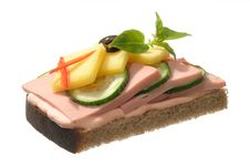 Free Sandwich With Sausage Stock Photo - 4508680