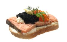 Free Sandwich With Caviar Royalty Free Stock Photo - 4508685