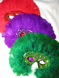 Free Bright Feather Masks Royalty Free Stock Images - 4508849