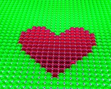 Heart From Spheres Royalty Free Stock Images