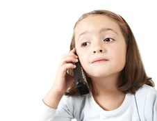 Free Young Girl With Phone Stock Photography - 4509072