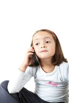 Free Young Girl With Phone Royalty Free Stock Photo - 4509095