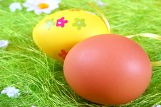 Free Pastel And Colored Easter Eggs Stock Photos - 4509113
