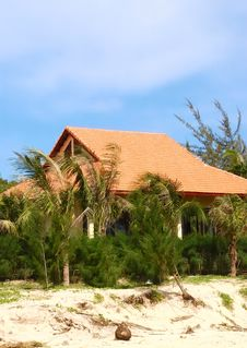 House On The Beach Royalty Free Stock Photo
