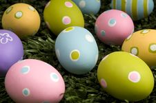 Free Easter Eggs On Grass Royalty Free Stock Photo - 4509905