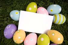 Easter Egg Notecard Royalty Free Stock Photos