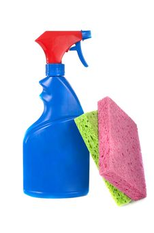 Free Spray Bottle And Sponges Stock Images - 4509954