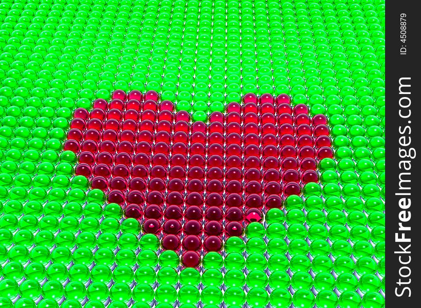 Heart from spheres
