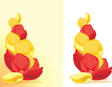Red And Yellow Rose Petals Royalty Free Stock Photo