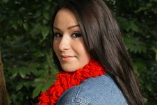 Free Close-up Of Attractive Girl Wearing Red Scarf Stock Photo - 4510060
