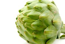 Free Artichoke Isolate On White Royalty Free Stock Photos - 4510648