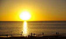 Sunset Silhouettes, Henley Beach Stock Photography