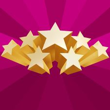 Free Golden Stars Royalty Free Stock Photography - 4511207