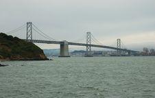 Free Bay Bridge In A Fog Stock Photo - 4511270