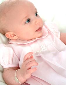 Baby In Pink Dress Royalty Free Stock Images