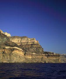 Free Volcanic Cliffs Santorini Royalty Free Stock Photo - 4511595