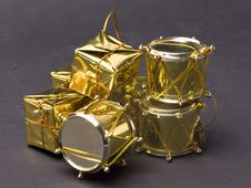 Free Golden Drum Set Royalty Free Stock Image - 4511786