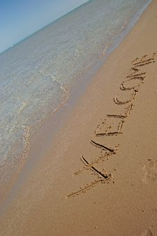 Free Message On The Beach Royalty Free Stock Photos - 4511978