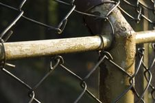 Rusty Fence Post Royalty Free Stock Photo