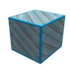 Illusion On A Box Royalty Free Stock Photos