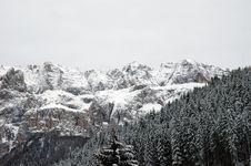 Dolomites Winter Stock Photography