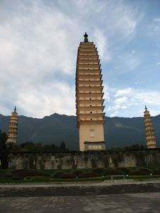Buddhist Pagoda In China Stock Photo